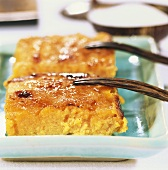 Cheese and pumpkin gratin with sugar crust
