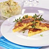 Rosti with creamed savoy