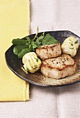 Veal medallions with artichokes