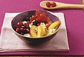Fresh muesli with fruit
