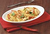 Spaghetti alla pescarese (Garnelen-Spaghetti mit Chili)
