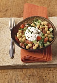 Middle Eastern chick-pea salad