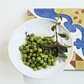 Pea salad with mint