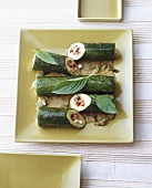 Boabsodsai (Stuffed courgettes, Thailand)