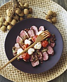 Petobnamseiw (Duck breast with lychees & tomatoes, Thailand)