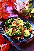 Broccoli and red pepper salad
