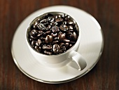 Cup of espresso beans