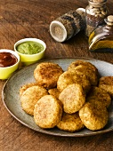 Aloo tikki (Indian potato cakes)