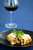 Beef Wellington (Beef with mushrooms in puff pastry)