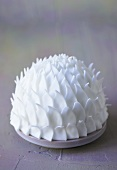 White cake with fondant decorations