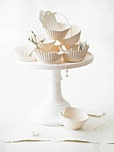 Baking accessories on a cake stand