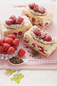 Raspberry quark slices