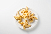Pastry pinwheels with apricot glaze
