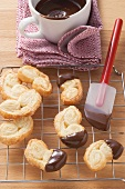 Chocolate-dipped palmiers