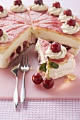 Holländer-Kirsch-Torte ('Dutch cherry cake') with redcurrant jelly
