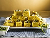 Khaman dhokla (Steamed snack, India)