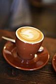Espresso with milk foam