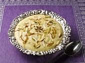 Shrikhand (Yoghurt dessert with exotic fruit, India)