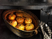 Baked apples in oven
