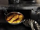 Potato gratin in oven