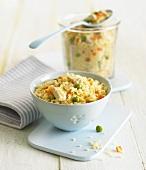 Couscous mit Hähnchen und Gemüse (Babykost)