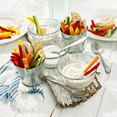 Crudités with quark dips