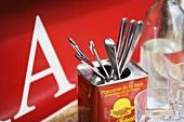 Cutlery in a tapas bar