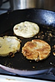 Welsh cakes in a frying pan (Griddle cakes, Wales)