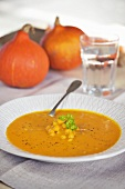Pumpkin and chick-pea soup