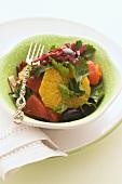 Pepper and orange salad