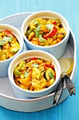 Chicken curry with courgettes and peppers