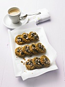 Herb biscuits with seeds, espresso