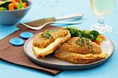 Pork Cordon Bleu with vegetables