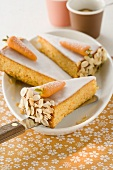 Carrot cake with marzipan carrots