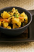 Vegetable curry with potatoes and cauliflower