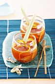 Orange punch with ginger and lemon grass