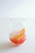 Fruit cocktail on ice