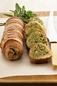 Ham roulade with bread stuffing