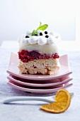 Raspberry slice with Vacherin cheese