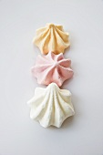 Three meringues (shells)