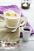 Passion fruit ice cream and espresso