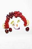 Gesicht aus Früchten und Gemüse