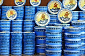 Tins of caviar