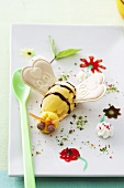 Orange ice cream bee