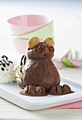 Chocolate ice cream teddy bear