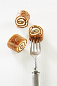 Apricot and goat's cheese rolls