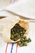Pistachios in paper bag