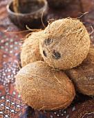Several coconuts