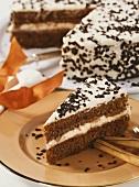 Cinnamon cream cake for Christmas