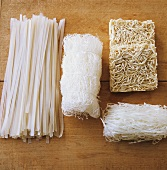 Assorted Asian noodles